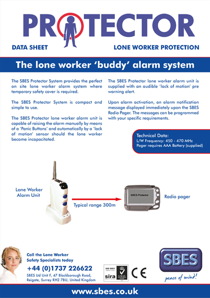 SBES Protector Lone worker 'buddy' alarm system